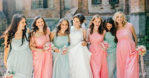 A bridesmaid role at the wedding is very important